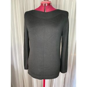 Investments boat neck sweater black